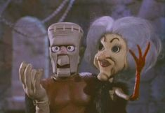 """Boris Karloff and Phyllis Diller in """"Mad Monster Party?"""" (1967)"""