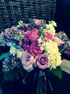 photo via Garden Gate Florals-Orlando  #purpleweddingbouquet #lilacweddingbouquet, #purpleweddingflowers.