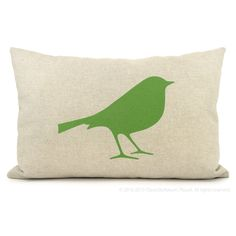 12x18 bird decorative pillow, throw cushion cover | Green flash, beige and geometric ogee accent bird pillow case | Modern home decor by ClassicByNature on Etsy https://www.etsy.com/listing/69928444/12x18-bird-decorative-pillow-throw