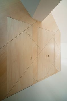 * Gallery of Space-Saving Solutions: 33 Creative Storage Ideas - 29 Awesome Amazing Gallery of Space-S. Plywood Interior, Plywood Walls, Plywood Furniture, Interior Walls, Interior And Exterior, Furniture Design, Timber Walls, Wooden Walls, Modern Interior