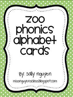 Crazy zoo alphabet coloring pages abc coloring pages - Zoo Phonics Alphabet Cards Pre K Class Pinterest