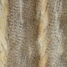 Pelliccia ecologica Lupo 1 - beige - Animalier e pelle - Pelliccia finta - tessuti.com