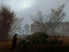 A Walk at Dusk - Caspar David Friedrich ~1835