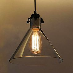 60W Contemporary Metal Pendant Light With Glass Shade – AUD $ 138.14