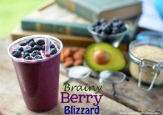 Berry Brain Blizzard- A smoothie for kids to support brain health! #smoothies4kids #brainhealth