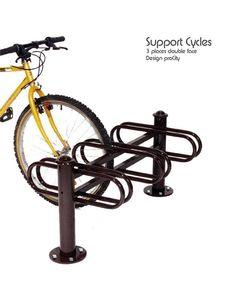Support cycles DECO 3 places double face -6 cycles - Acier galvanisé laqué - Design ProCity
