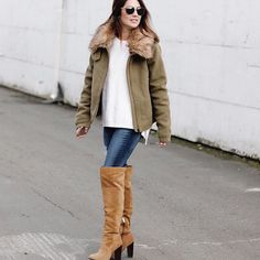 All bundled up in style … LOVE this boots!