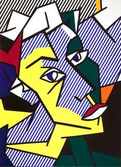 ROY LICHTENSTEIN Head, 1980 Oil and Magna on canvas 50 x 36 inches (127 x 91.4 cm) © Estate of Roy Lichtenstein