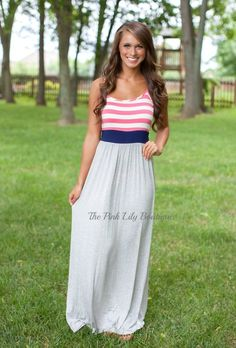 Tell Me About It Striped Maxi!