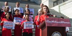House Democrats Show Solidarity With 'Day Without A Woman' Strike | The Huffington Post