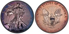 Weinman/John Mercanti for PCGS Visit to see edge, weight, diameter, auction records, price guide values and more for this coin. Silver Eagle Coins, Silver Eagles, Canadian Coins, Error Coins, Bullion Coins, Mint Coins, Coin Grading, Show Me The Money, World Coins