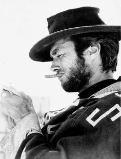 Clint Eastwood on the set of For A Few Dollars More, 1965.
