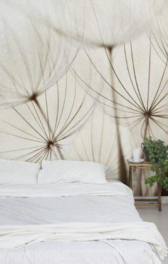 Fantastisch Bilderwelten Vliestapete Blumen Premium Breit »Sanfte Gräser« #Schlafzimmer  #Bett #Ideen #Wandgestaltung Christoph Baum Stil Fabrik