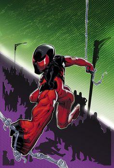Scarlet Spider Pin Up by xXNightblade08Xx.deviantart.com on @deviantART