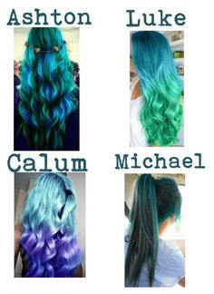 """""""Dyeing Your Hair Blue/ Green/ purple With Michael ~ Jessica"""" by wouldyouwear ❤ liked on Polyvore"""