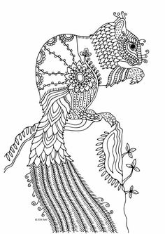 illustration by keiti adult coloring page
