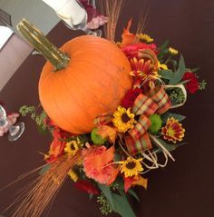 fall floral long and low centerpiece - Google Search