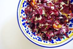 A late winter salad made with radicchio and blood orange.