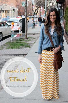 Fall Maxi Skirt + Chambray Tutorial