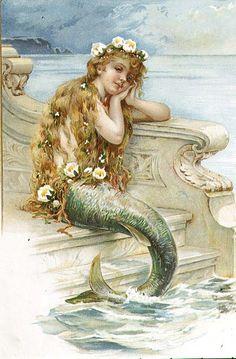 little mermaid. How cute for a little girls bathroom or bedroom? ;-)