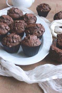 Muffins, Cupcakes, Sweets, Cookies, Chocolate, Breakfast, Desserts, Recipes, Pane