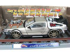 DeLorean Back To The Future III Movie Car 1/18 RailRoad #SunStar