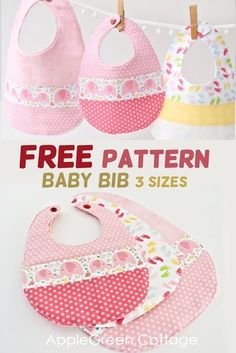 Baby bib pattern in 3 sizes, easy sewing project. This is my best baby bib patte… Baby bib pattern in 3 sizes, easy sewing project. This is my best baby bib pattern – I designed it in 3 sizes from newborn to toddler. Get your free pattern now! Baby Sewing Projects, Sewing Projects For Beginners, Sewing Hacks, Sewing Tutorials, Sewing Tips, Dress Tutorials, Sewing Ideas, Diy Projects, Baby Bibs Patterns