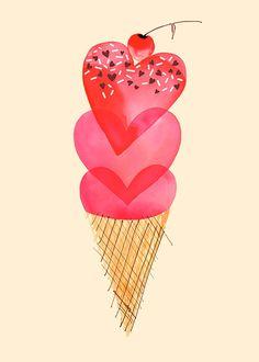 #icecream #hearts #greetingcards
