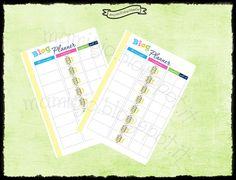 "Refill ""blog planner"", tema arcobaleno #refill #planner #filofax"