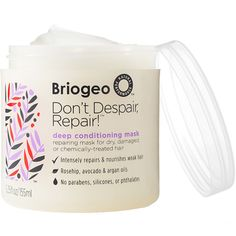 Cruelty Free! Use EP50get25 for $25 off your first order of $50 or more Shop BRIOGEO Don't Despair, Repair! Mask