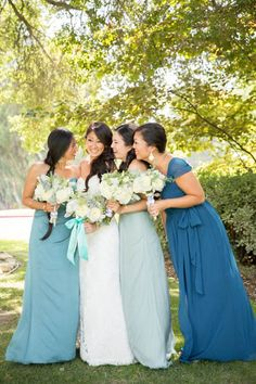 something blue bridesmaids dresses | itakeyou.co.uk