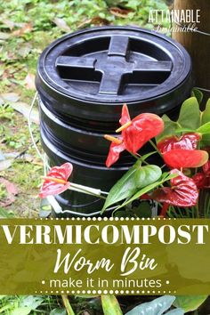 Build a vermicompost bin for worm composting in just 30 minutes. Castings from this worm bin are a rich garden amendment that will make your garden grow!  via @Attainable Sustainable