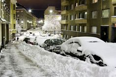 al streets in finland in winter Meanwhile In Finland, Finnish Language, Winter Scenes, Norway, Sweden, Places Ive Been, Sweet Home, Ice, Spaces