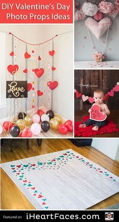 Easy DIY Photo Props for Valentine's Day - Compiled by I Heart Faces Photography Blog