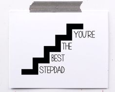 stepfathers day card. stepdad birthday card. you're by LittleSloth, $4.00