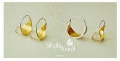 Boucles d'oreilles argent 926 et dorure à la feuille d'or. www.sibylleflouret.com