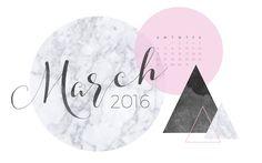 March 2016 Desktop Calendar Wallpaper