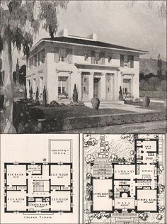 Tiny House Plans 67342956906972153 - Italian Renaissance Style House – Francis Pierpont Davis – 1916 California Architecture Source by delasavoie Br House, Sims House, California Architecture, Architecture Plan, Residential Architecture, Building Plans, Building A House, Building Ideas, Vintage House Plans