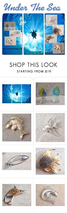 """""""Under The Sea"""" by cutterstone on Polyvore featuring Ready2hangart"""