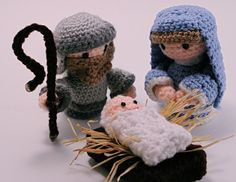 I ♥ Crochet - Fofos e lindos! Nativity Set - Just in time for the Holidays! - CROCHET