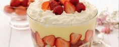 This summer fruit trifle recipe is easy to make with ready-made custard and swiss roll but is bound to impress guests at a garden party.