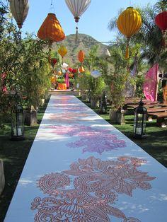 the ceremony site on My Fair Wedding Asian Fusion
