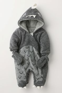 11fe8de1495f97 Buy Grey Dino All-In-One (0-18mths) from the Next