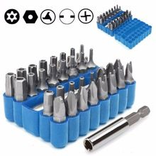 US $6.32 Security Bit 33Pcs Set Tamper Proof Torx Spanner Screwdriver Star Hex Holder Rod. Aliexpress product