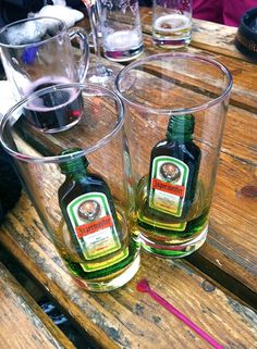 jagerbombs at the mooserwirt, st anton