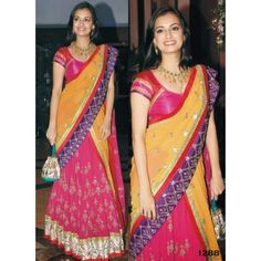 Diya Mirza Lifestyle Bollywood Replica Lehanga - Bollywood Sarees by istyledeals