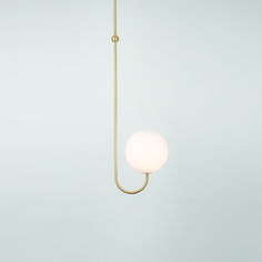 Single Angle Ceiling Lamp / Michael Anastassiades