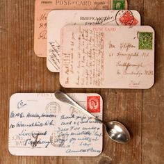 Vintage Postcard Coasters beautiful design by GraceAndFavourHome