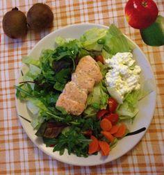 Diet Zone - 3 blocks:  Salmon Cottage cheese Iceberg Salad Carrots