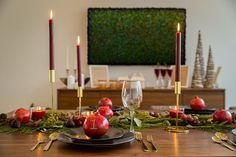 Heres a holiday themed dining setting laid out by the wonderful Maggie Richmond from Dining Set, Dining Room, Dining Table, Toronto Photographers, Candels, Scene Photo, Christmas Design, Home Staging, Place Settings